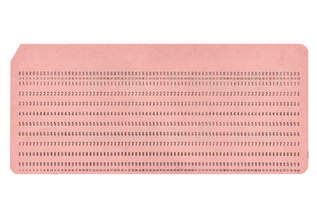 punched: Vintage blank punched card for computer data storage