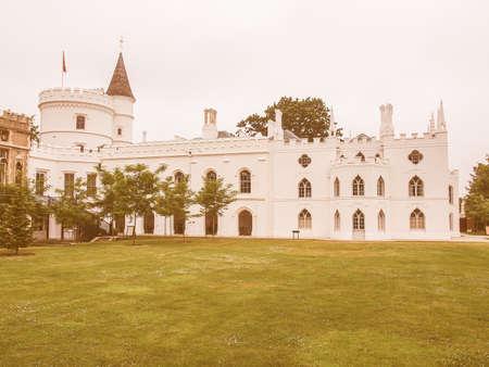 horace: Horace Walpole Strawberry Hill gothic villa built in London Twickenham in 1749 vintage