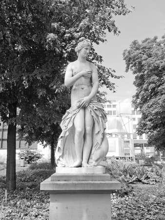 aphrodite: Statue of Venus Aphrodite in The Oberer Schlossgarten park in Stuttgart, Germany