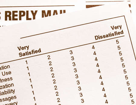 dissatisfied: Survey from very satisfied to very dissatisfied vintage