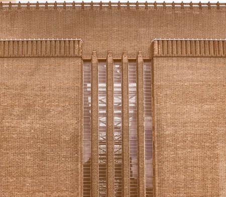 powerstation: Vintage looking Tate Modern art gallery in South Bank powerstation in London, UK