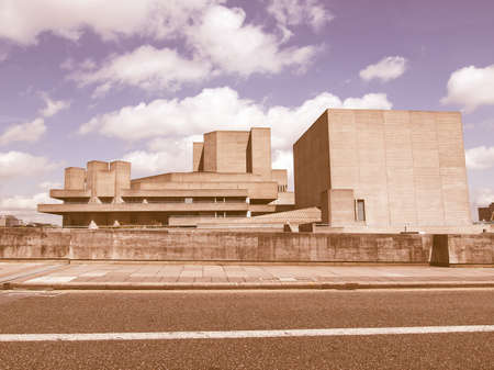 rationalism: The Royal National Theatre in London UK vintage