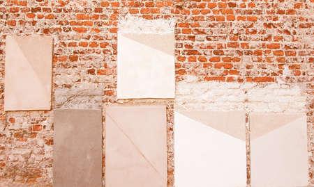 refurbishment: Wall paint colour sample for historical restoration refurbishment vintage