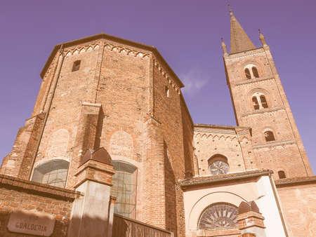 chiesa: Chiesa di San Domenico gothic church in Chieri Italy vintage Stock Photo