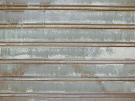 corrugated steel: Vintage looking Grunge green corrugated steel plate useful as a background Stock Photo