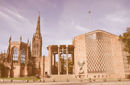 michael: St Michael Cathedral church, Coventry, England, UK vintage Stock Photo