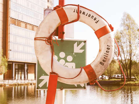 safety buoy: A life buoy for safety at sea vintage