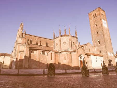 scala: Chieri Cathedral aka Church Of Santa Maria della Scala or Duomo di Chieri vintage Stock Photo