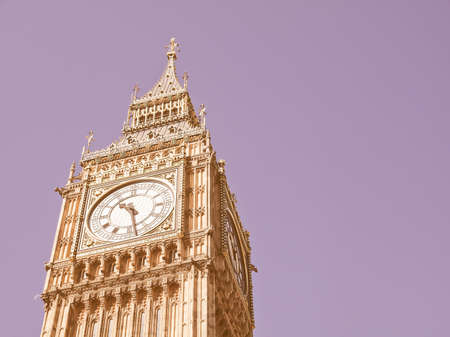 gothic architecture: Big Ben Houses of Parliament Westminster Palace London gothic architecture vintage