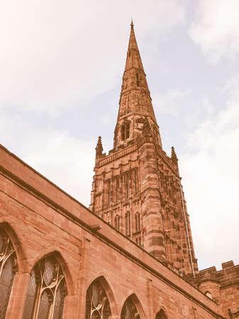trinity: Holy Trinity parish Church, Coventry, England, UK vintage Stock Photo
