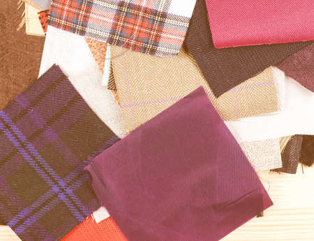 swatches: Many fabric swatches useful as a background vintage