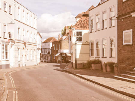 kent: The City of Canterbury in Kent England UK vintage