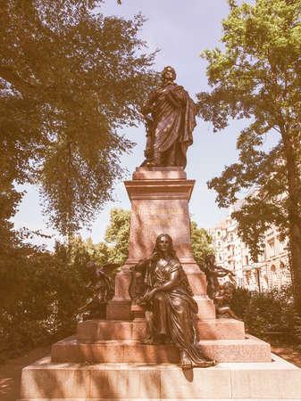 ludwig: The Mendelssohn Denkmal monument to German musician Jakob Ludwig Felix Mendelssohn Bartholdy was designed by Werner Stein in 1892 in Leipzig Germany vintage
