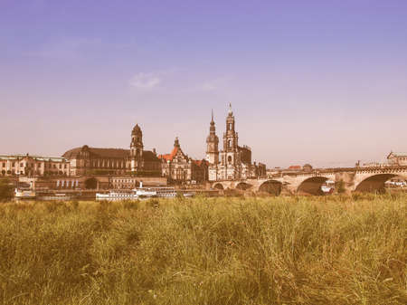 trinity: Dresden Cathedral of the Holy Trinity aka Hofkirche Kathedrale Sanctissimae Trinitatis in Dresden Germany vintage Stock Photo