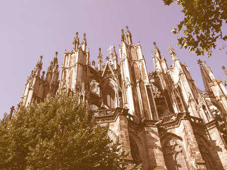 dom: Koelner Dom (Cologne Cathedral) in Koelne, Germany vintage