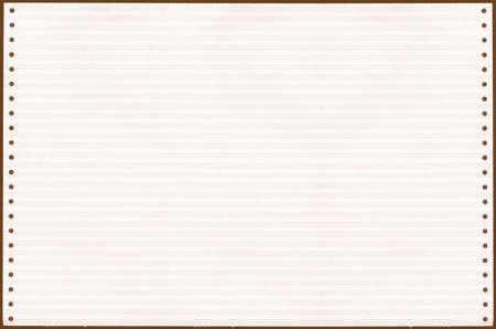 printout: Blank sheet of a vintage computer printout vintage