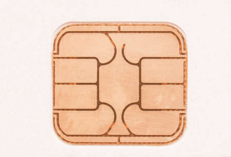 debit card: Electronic chip on a credit card or debit card vintage