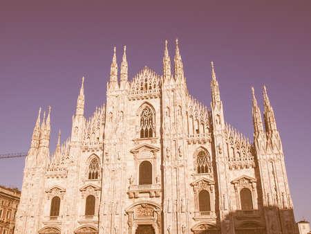 di: Duomo di Milano gothic cathedral church Milan Italy vintage
