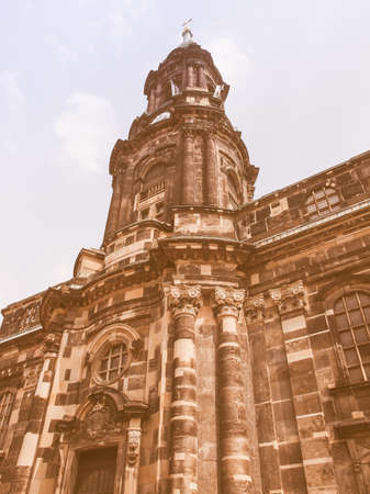meaning: Kreuzkirche meaning Church of the Holy Cross in Dresden Germany is the largest church in Saxony vintage