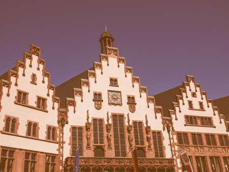rathaus: Frankfurt city hall aka Rathaus Roemer Germany vintage