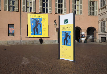 henri: TURIN, ITALY - CIRCA MARCH 2016: Entrance to the Henri Matisse exhibition at Palazzo Chiablese Editorial