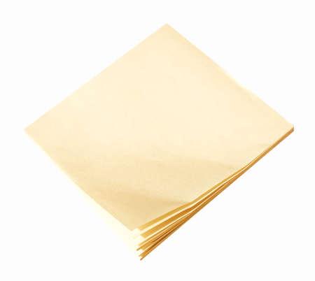 postit: Yellow postit notepad isolated over white background vintage Stock Photo