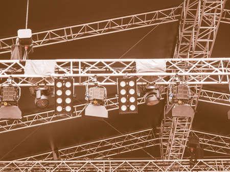 gig: Stage lights used in live gig concert vintage