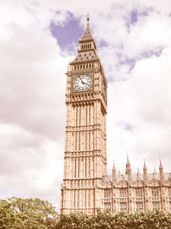bigben: Big Ben Houses of Parliament Westminster Palace London gothic architecture vintage