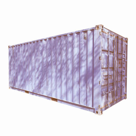 pkw: Shipping container used for cargo freight delivery by ship aircraft train truck vintage