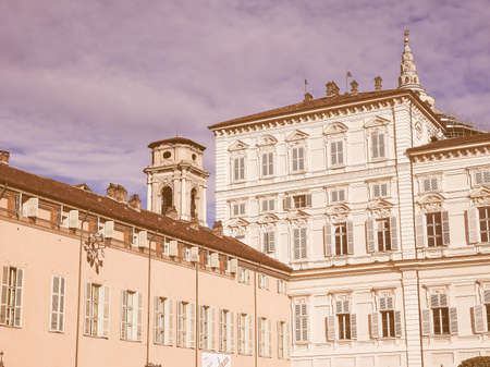 palazzo: Palazzo Reale The Royal Palace in Turin Italy vintage