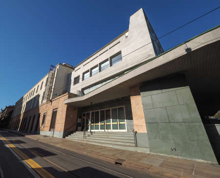 arturo: TURIN, ITALY - CIRCA MARCH 2016: Auditorium RAI music hall designed by architect Carlo Mollino in 1958 dedicated to music director Arturo Toscanini