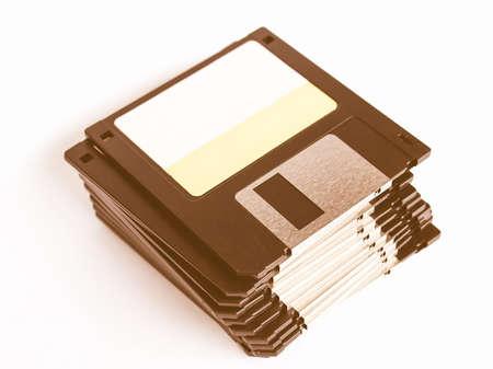 mass storage: Magnetic floppy disk for computer data storage vintage