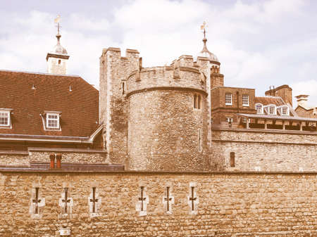 dungeons: The Tower of London, medieval castle and prison vintage