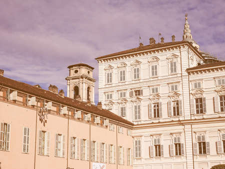 palazzo: Vintage looking Palazzo Reale The Royal Palace in Turin Italy