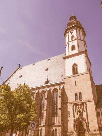 worked: Thomaskirche St Thomas Church in Leipzig Germany where Johann Sebastian Bach worked as a Kapellmeister and the current location of his remains vintage