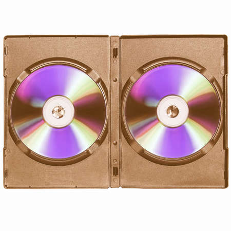 dvd case: CD or DVD case, for music data video recording support - isolated over white background vintage