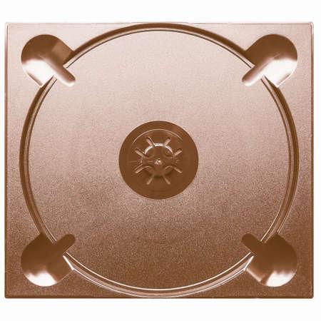 cd case: Empty black plastic case for CD or DVD vintage Stock Photo