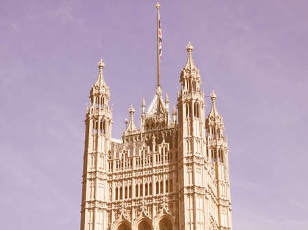 gothic architecture: Houses of Parliament Westminster Palace London gothic architecture vintage