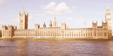 gothic architecture: Houses of Parliament, Westminster Palace, London gothic architecture vintage Editorial