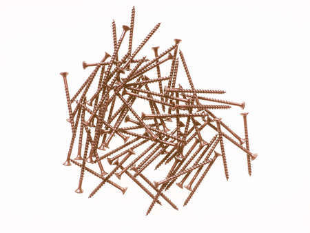metal fastener: Many bronze screws for wood vintage