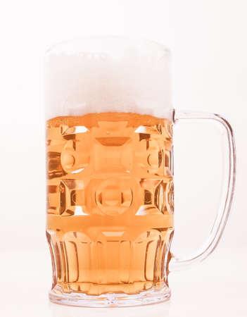 pilsner beer glass: A large glass of German lager beer vintage Stock Photo