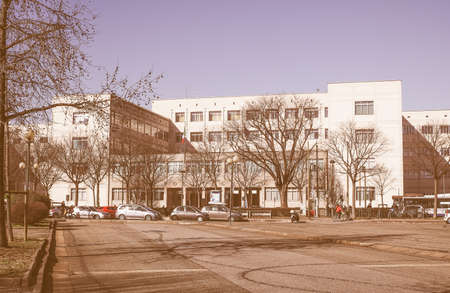 technical university: TURIN, ITALY - FEBRUARY 25, 2015: The Politecnico di Torino meaning Polytechnic University of Turin is the oldest public technical university in Italy, established in 1859 vintage