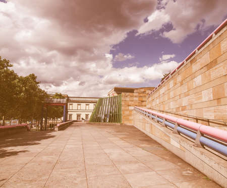 postmodern: STUTTGART, GERMANY - JULY 11, 2012: The Neue Staatsgalerie art gallery is a masterpiece of postmodern architecture designed by British architect Sir James Stirling in 1977 vintage