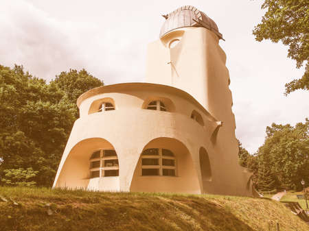 relativity: POTSDAM, GERMANY - MAY 10, 2014: The Einstein Turm astrophysical observatory was designed by architect Erich Mendelsohn in 1917 for Albert Einstein to validate his Relativity Theory vintage