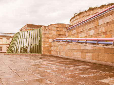postmodern: STUTTGART, GERMANY - JULY 13, 2012: The Neue Staatsgalerie art gallery is a masterpiece of postmodern architecture designed by British architect Sir James Stirling in 1977 vintage