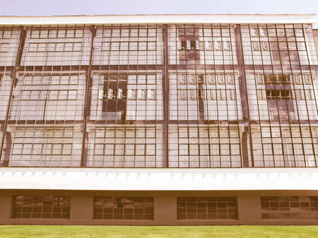 rationalism: Modern architecture in Dessau, Germany (south of Berlin) vintage