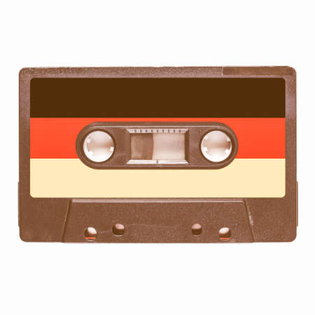 musik: Magnetic tape cassette for audio music recording - German music vintage
