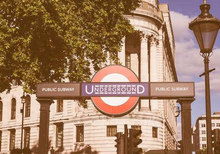 visiting: LONDON, UK - SEPTEMBER 27, 2015: Tourists visiting central London vintage Editorial