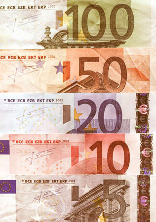 geld: Euro banknote (currency of the European Union) vintage Stock Photo