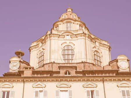 lorenzo: The church of San Lorenzo Turin Italy vintage Stock Photo